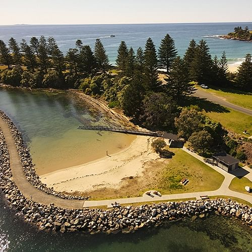 Those with mobility limitations can now access the ocean at Bermagui's Bruce Steer Pool.