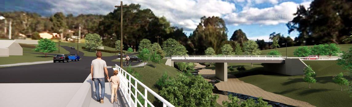Concept image of the new Murrabrine Bridge.