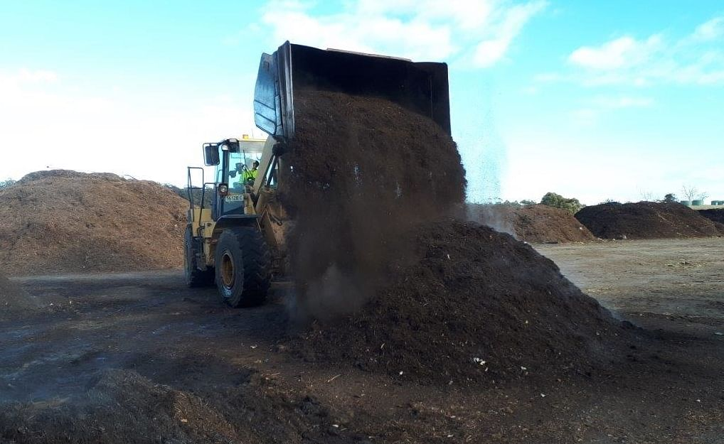 The end product. Food and garden organic waste is transformed into high-value compost through the FOGO program.