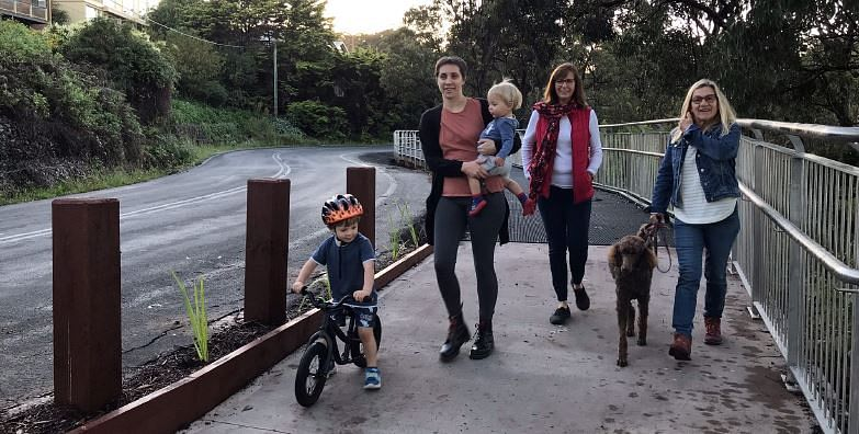 Photograph: Lake Street Shared Path is open and proving to be a popular and safe off-road access alternative along Lake Street in Merimbula.