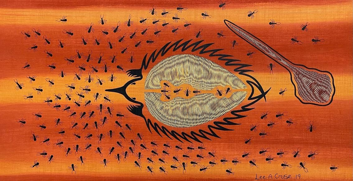Hunting Echidna by Lee Cruse at Art Essence Gallery.