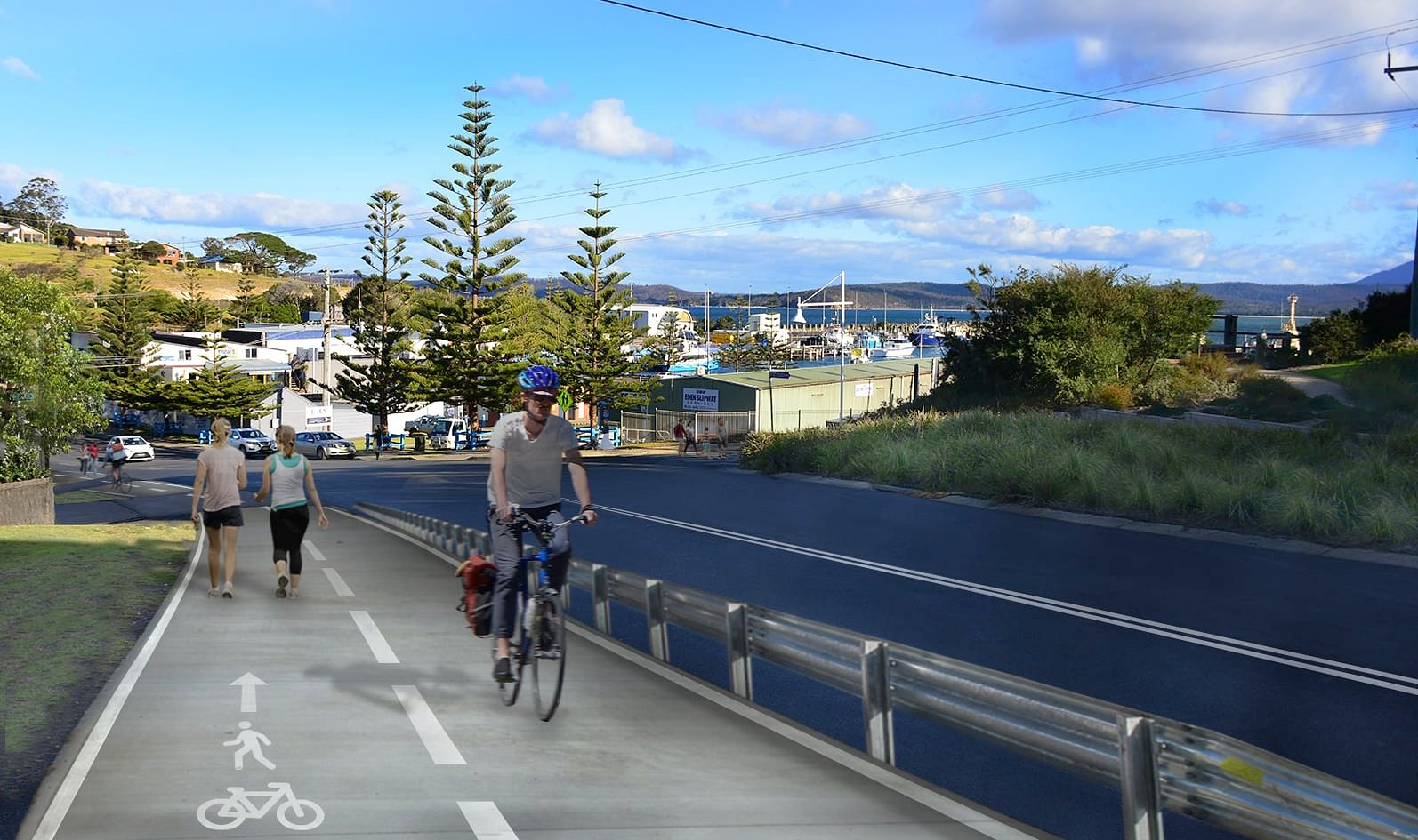 The Imlay Street and Albert Terrace upgrade project includes a new shared path to improve access for cyclists and pedestrians.