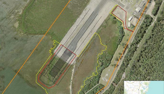 Merimbula airport extension diagram.