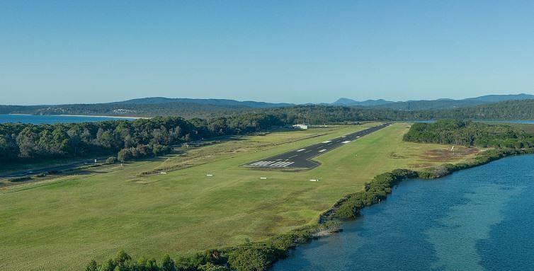 Merimbula airport.