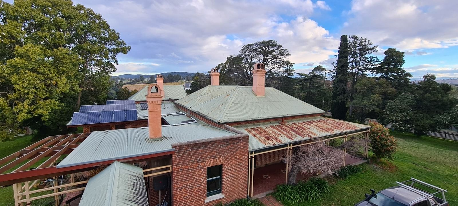 The rusted roof attached to Bega property, Narroon will be repaired and repainted using a Small Heritage Grant.