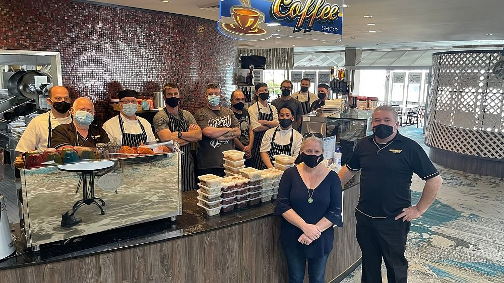 Chefs from the RSL cooked 400 meals