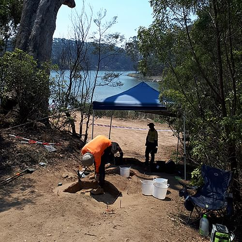 Archaeological salvage works: Aboriginal Heritage salvage work is progressing at Blackfellows Lake ahead of the planned boat ramp upgrade.