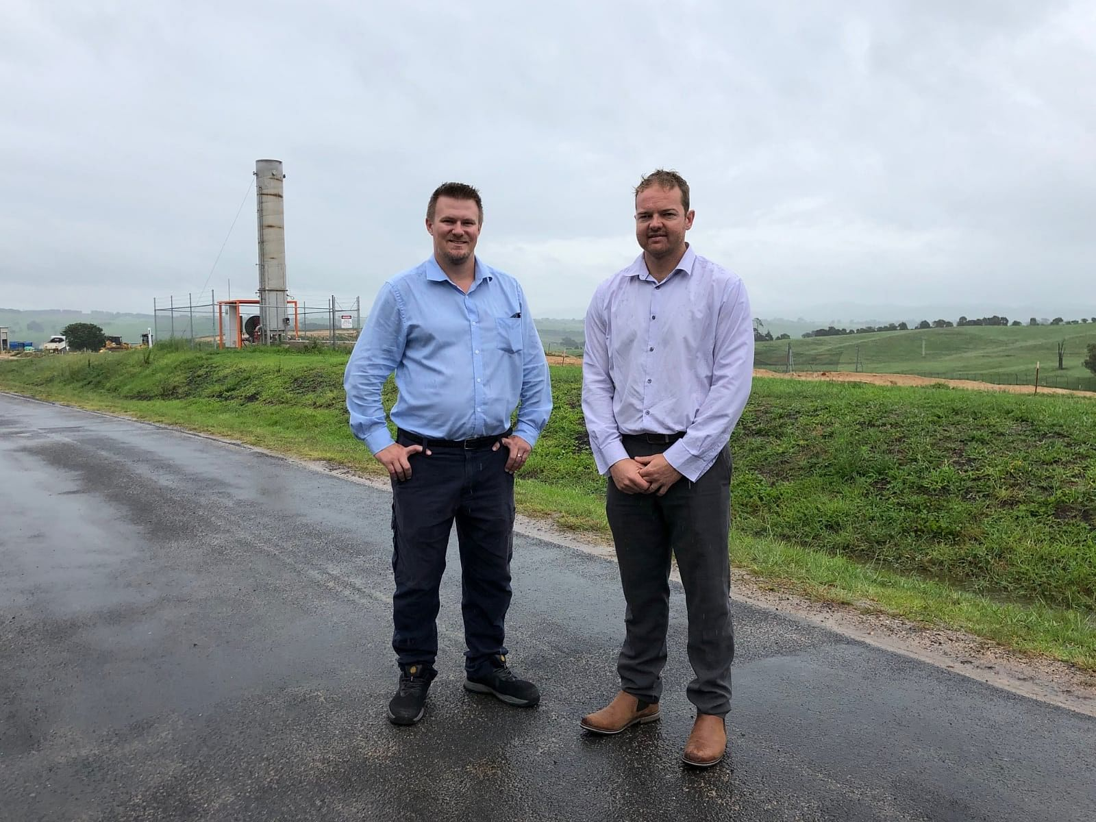 Anthony McMahon, Director Assets & Operations and Kurt Marsh, Acting Waste Services Manager at the Central Waste Facility.