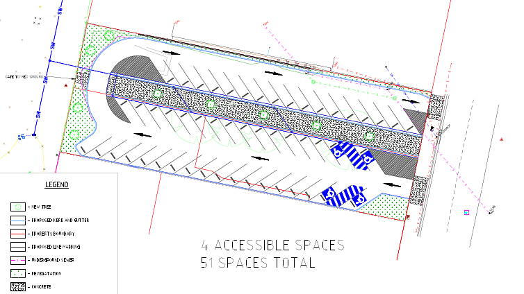 Plan of the new Auckland Street carpark.