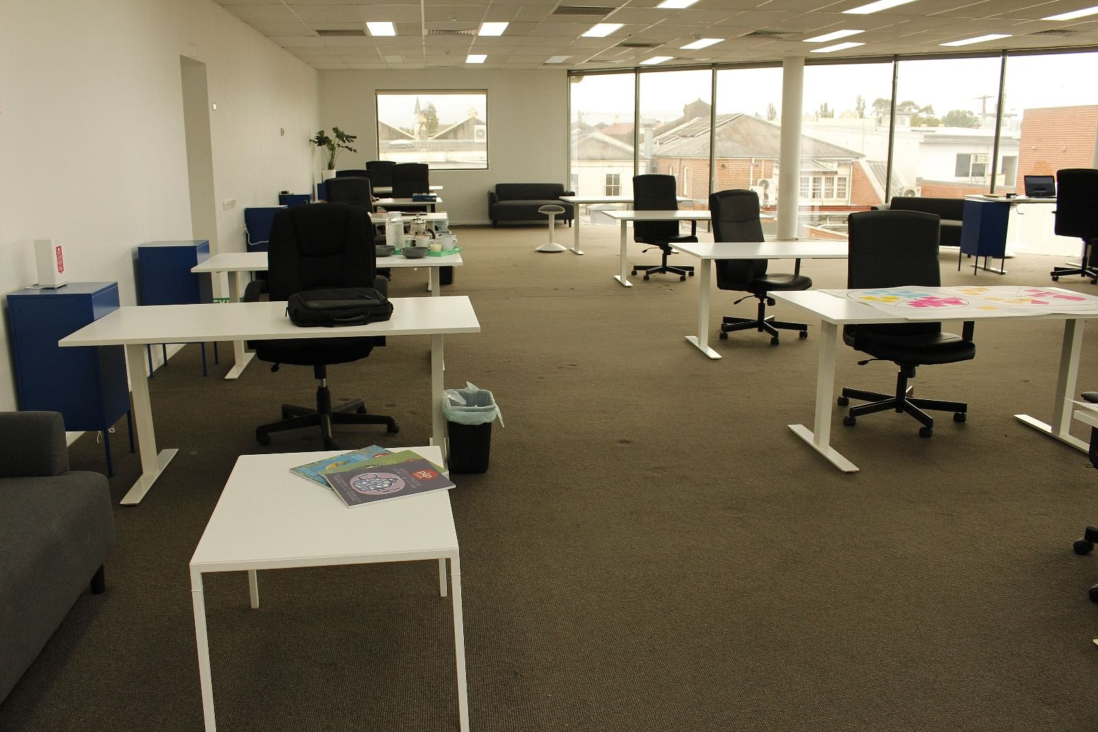 Desk spaces available for free on a rolling 30-day, case-by-case basis until the end of June.