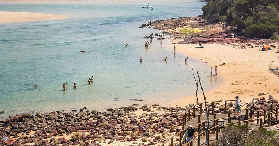Photo from Sapphire Coast NSW Facebook: Bar Beach, Merimbula, January 2020.