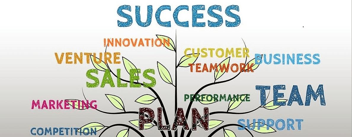 Business success tree.