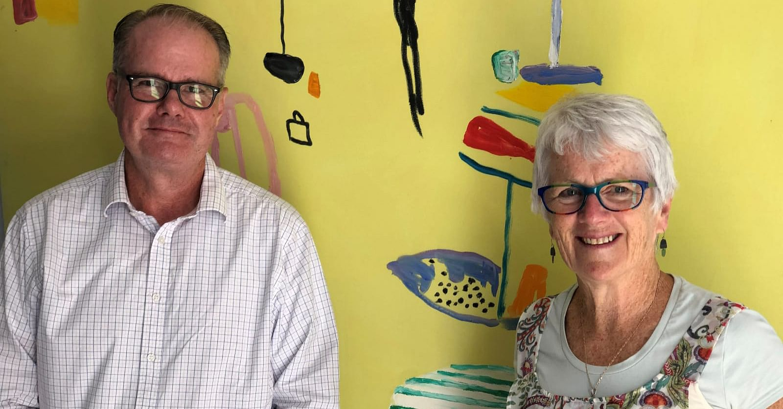 Photo: Chris Horsburgh, Recovery Project Lead and Anne Leydon, Manager Recovery Health and Wellbeing.