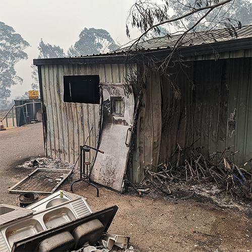 Cobargo tip after the 2020 Bega Valley Bushfires.