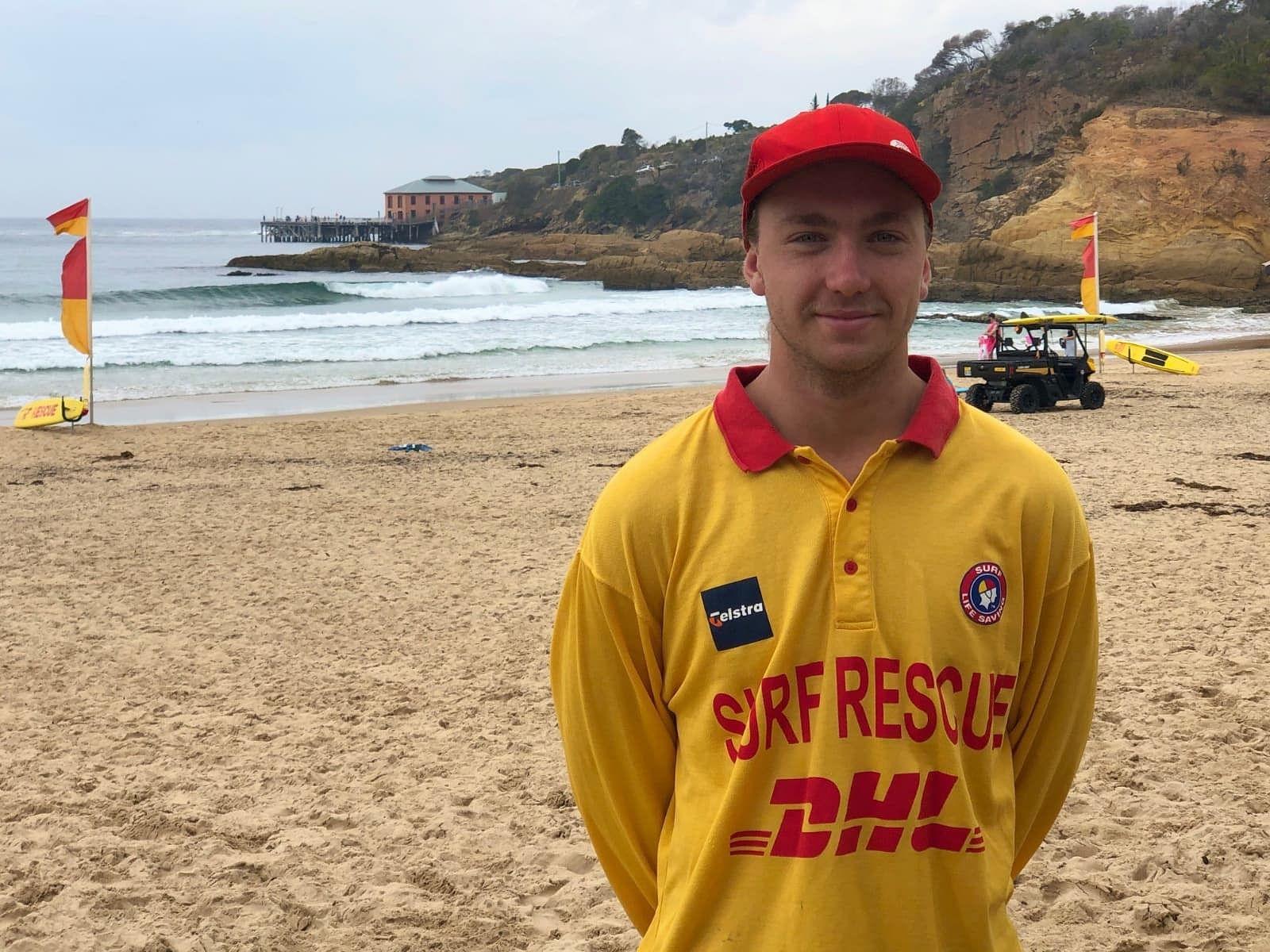 Cooper Avis, Captain of Gerringong Surf Club on patrol at Tathra during his families recent 'Empty Esky' getaway.