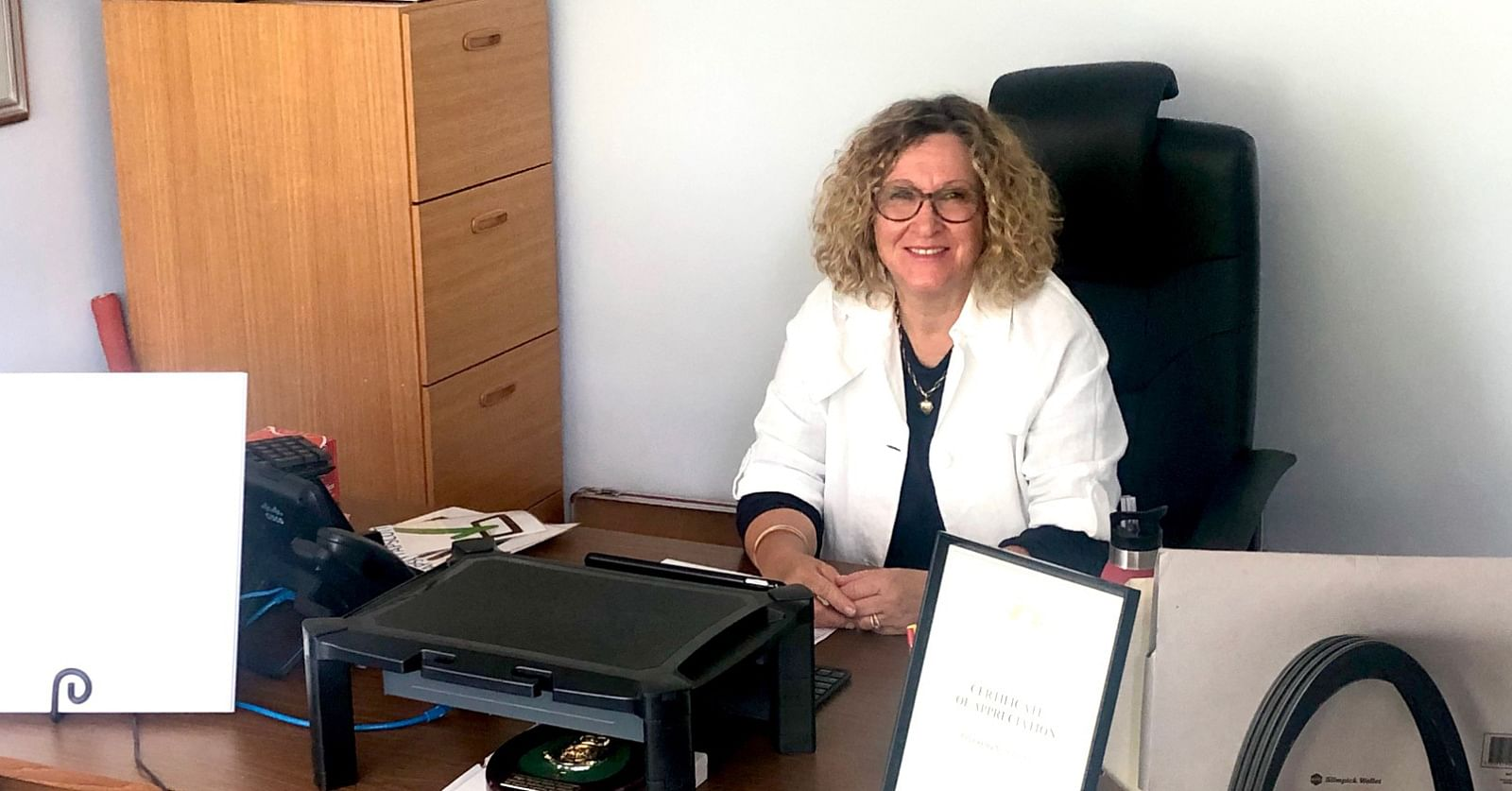 Photo: Cr Sharon Tapscott, at work as Mayor of Bega Valley Shire Council