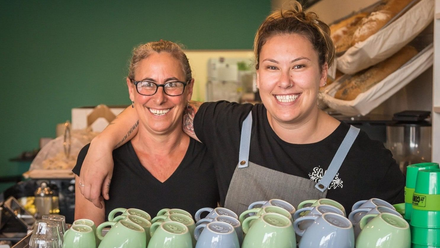 Maddy Barry and her mother Jo from Bermagui's Cream Patisserie.