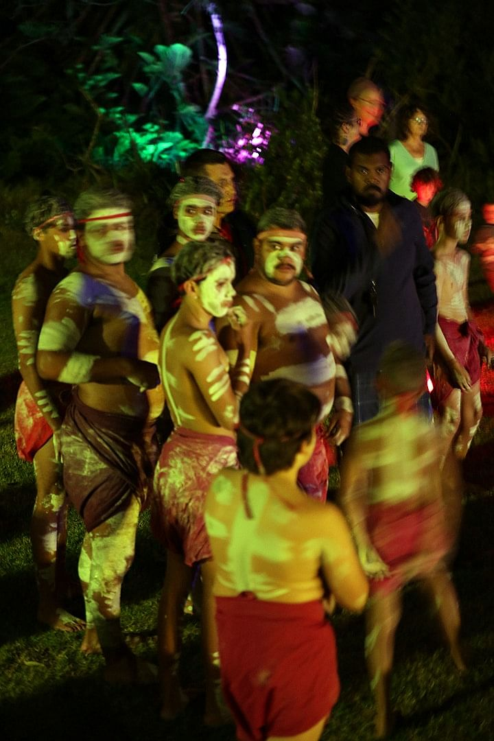 The Gadhu Dancers performing at last year's Trail of Light and Sound in Bermagui.