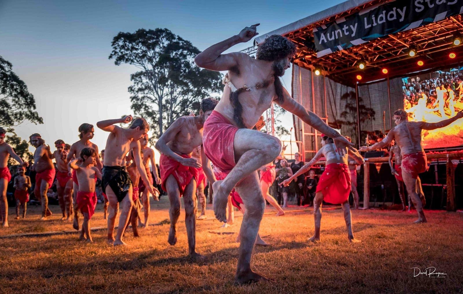 Giiyong dancers at the 2018 Giiyong Festival. Photo by David Rogers.