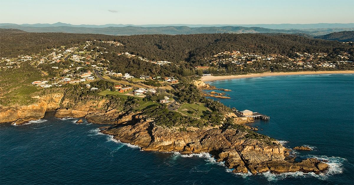 Tathra Headland and hills behind the town.
