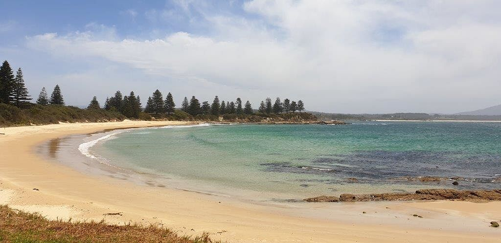 Bermagui's Horseshoe Bay was one of 15 Shire beaches rated as good or very good in the 2019-2020 Beachwatch State of the Beaches report.