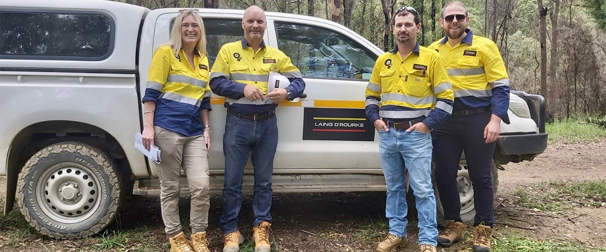 Staff from Laing O'Rourke are coordinating the clean-up effort across NSW.