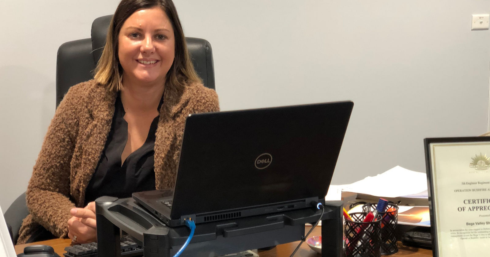 Photo: Kristy McBain, at work in her role as Mayor prior to her candidacy for Eden-Monaro.