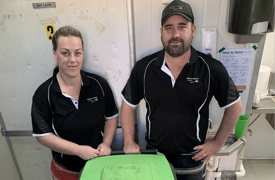 Emma and Josh Orr from Mimosa Meats in Tathra.