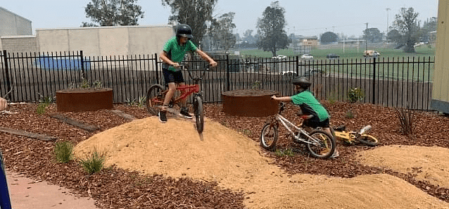 Bega Valley Public School used their 2019 funding to convert a bare outside space, into a vibrant bike-pump track, complete with an edible garden retreat and natural balancing logs. Specifically designed for students with special needs, the area is enjoyed by the whole school.