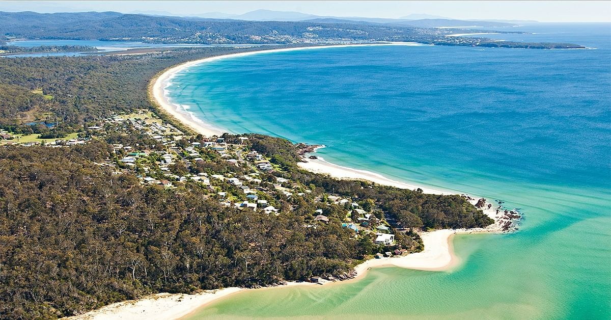 Pambula Beach, arial view.