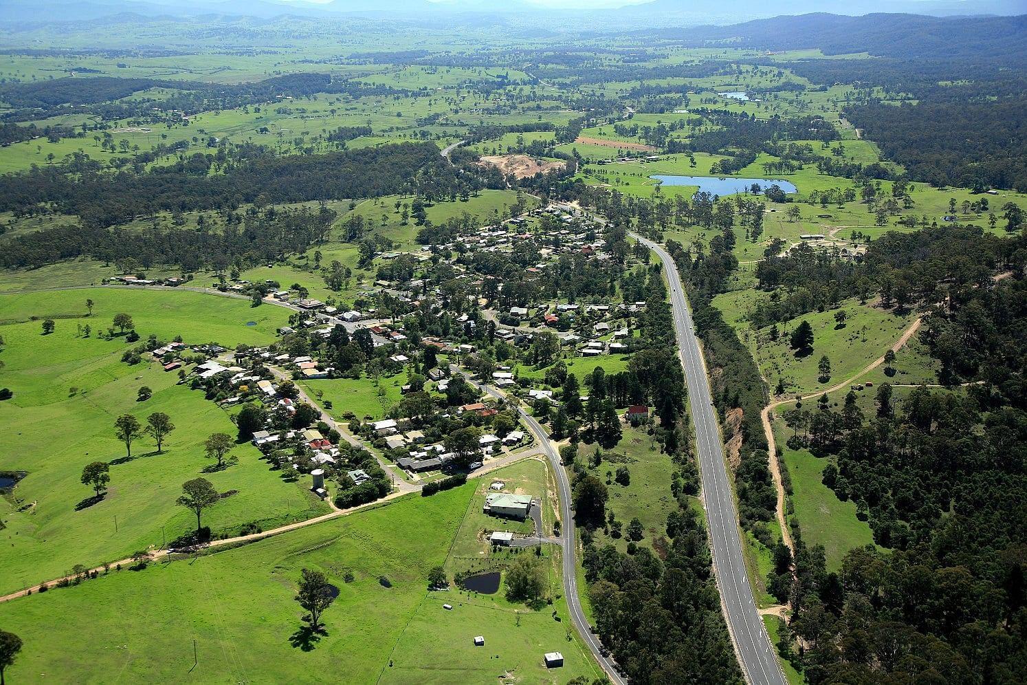 Aerial photo of Wolumla.