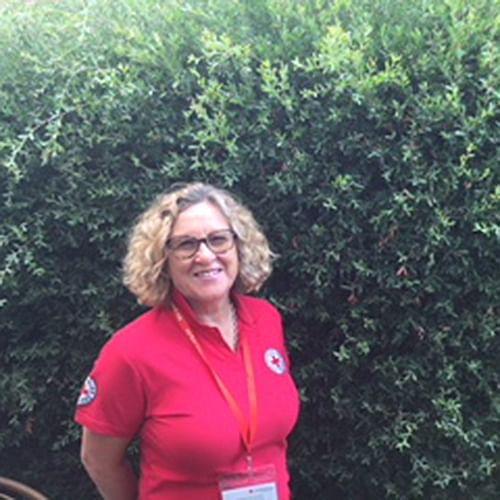 Councillor Sharon Tapscott is a Red Cross volunteer.