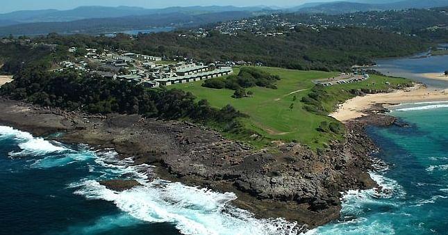 Photograph: Aerial view of Short Point, Merimbula.