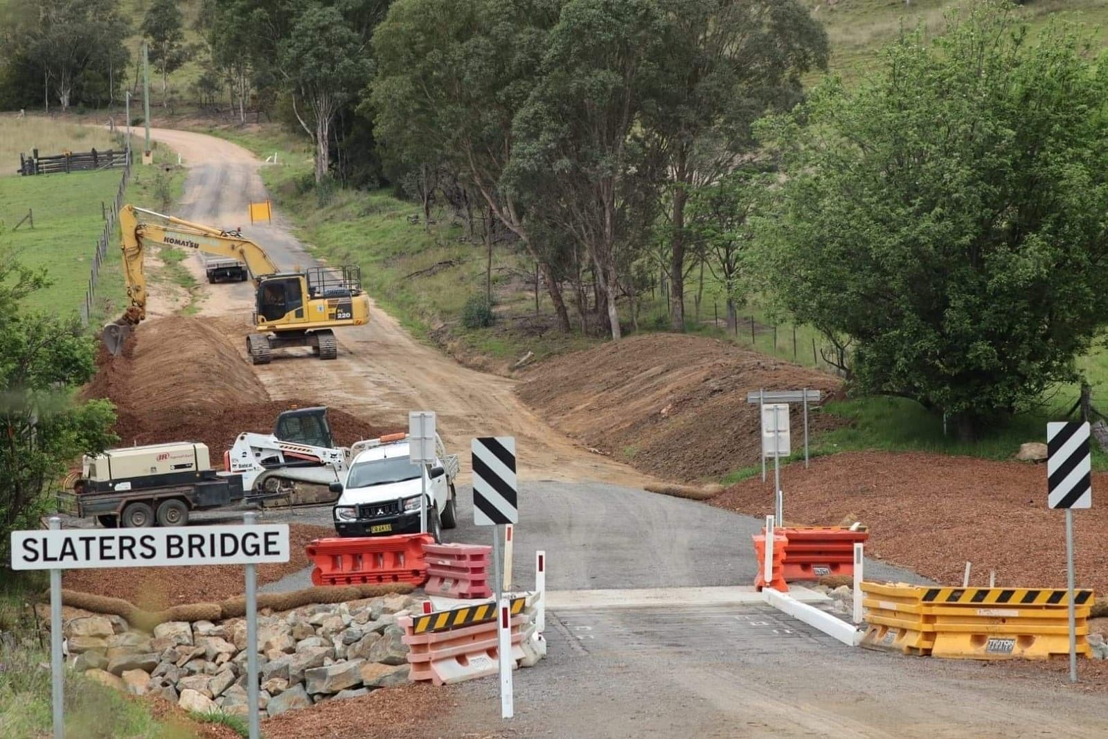 New Slaters bridge at Tantawanglo.