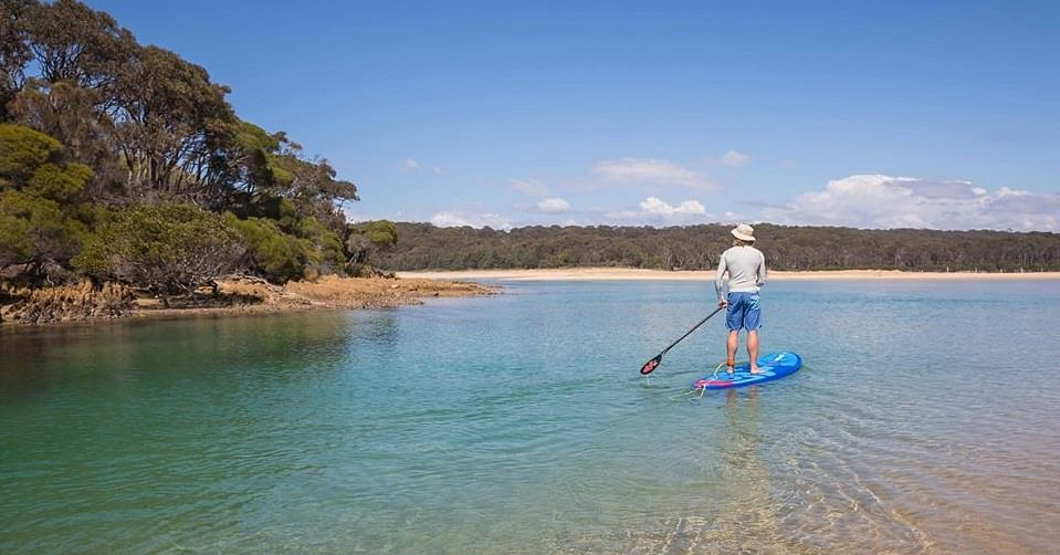Stand up paddle boarding at Nelsons Lagoon, taken by David Rogers Photography. The Sapphire Coast will continue to be a destination of choice for holiday makers once this passes.