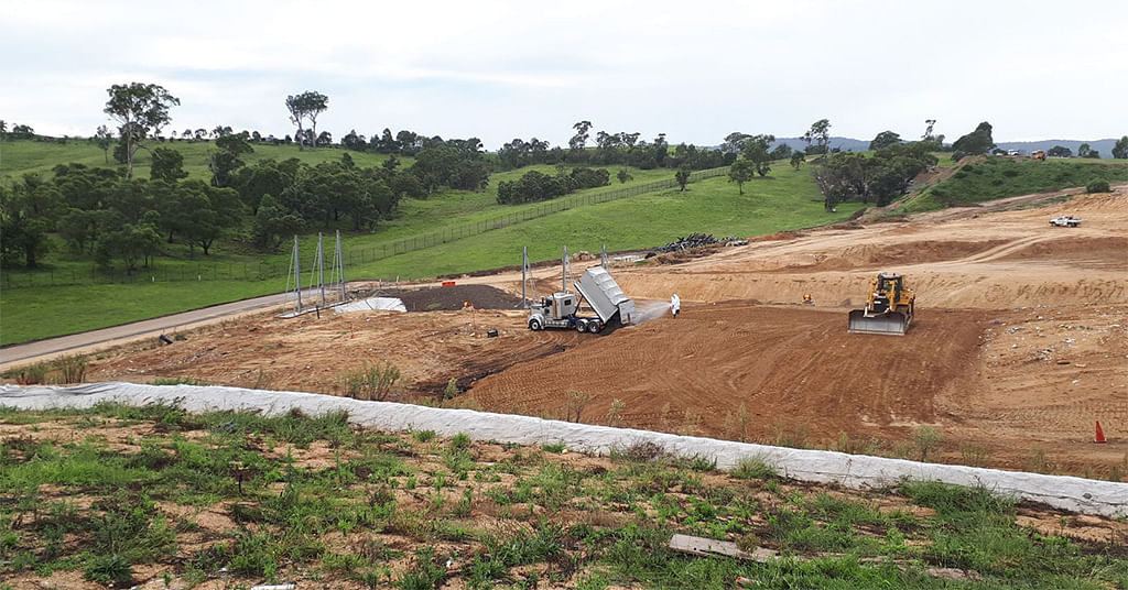 Photograph: Central Waste Facility being prepared to take bushfire affe materials.