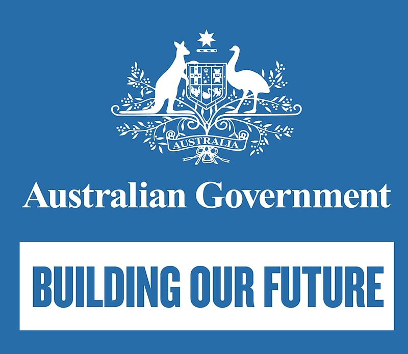 Australian Government logo and link to the Community DevelopmGrants Programme.