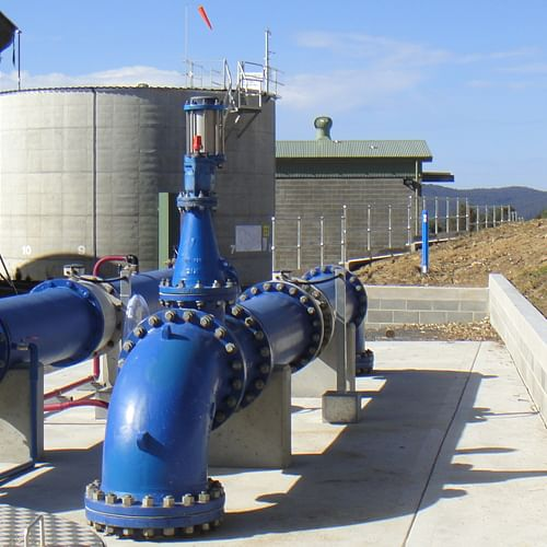 Water supply infrastructure pumps.